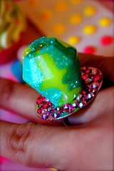 Candy Clash Twisted Glitter Resin Ring Pop Ring photo by athinalabella1