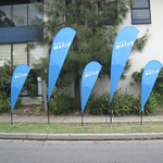 2.5m and 3.5m Teardrop 2 Go Flags