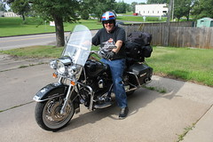 Gary France and his Harley Road King
