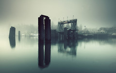 Fog over Friday Harbor photo by sparth