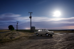 BMW 1602 in the moonlight photo by Amaury AML