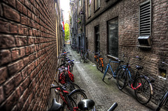 Amsterdam: Bikes and bikes and bikes... photo by Mike Olbinski Photography