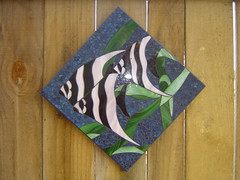 Stained glass mosaic - Angel fish photo by Diane Kitchener