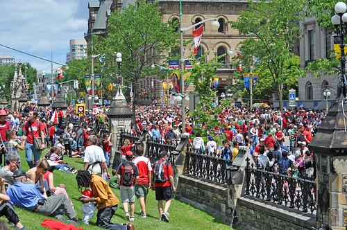 Canada Day 2010, street scene