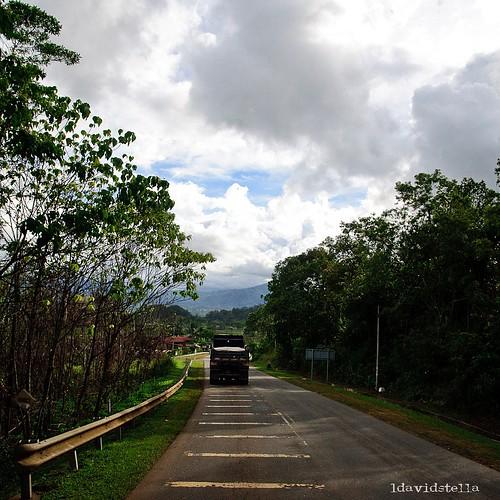 passenger seat view- to Ranau town