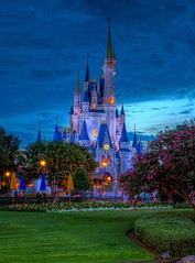 Magic Kingdom - Apocalypse Sky looms over Cinderella Castle photo by Cory Disbrow