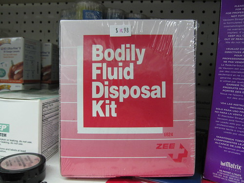 body fluid disposal kit, a must for every home