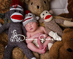 Knitted Sock Monkey Hat for a Newborn Baby photo by sock monkey kook