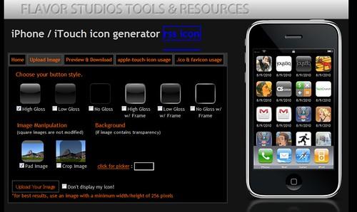 iPhone Icon, Favicon, .ico Generator