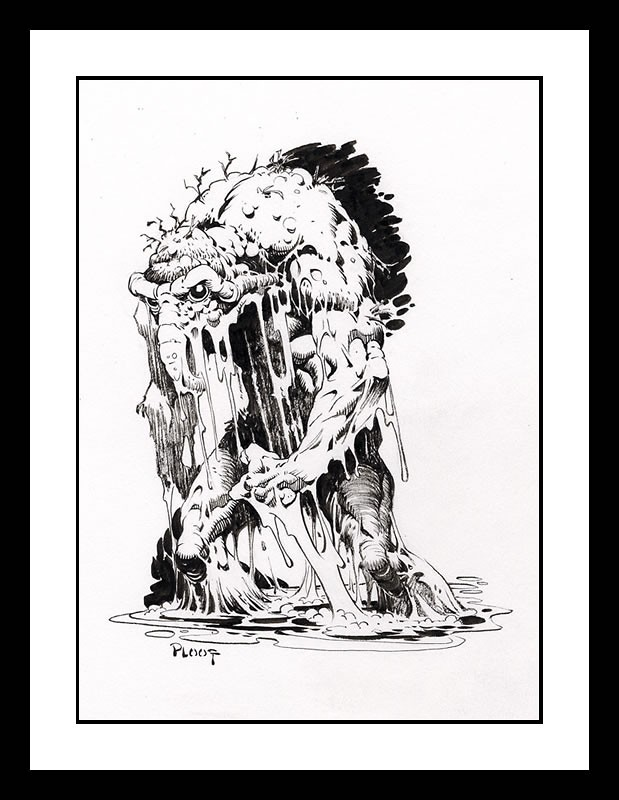 Man-Thing drawing by Mike Ploog for comicartfans Simon Reed