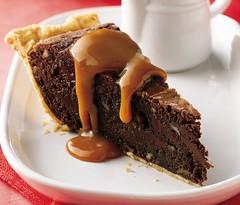 Fudgy Brownie Pie with Caramel Sauce Recipe photo by Pillsbury.com