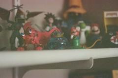 Video game toy shelf photo by ravingsockmonkey