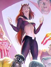 Satana in the John Romita Alex Ross poster
