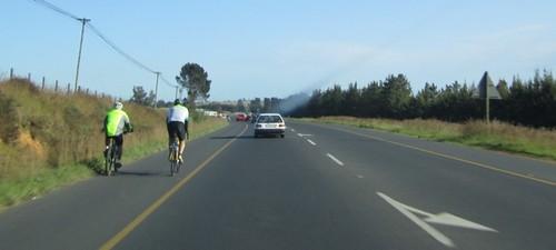 Drumul pentru cicliști în Africa de Sud