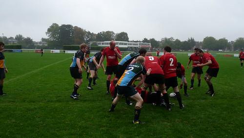 Hackney Setup their Ruck Defence