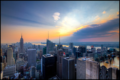 Sunset from the Top of the Rock in New York City photo by RBudhu