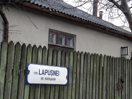 Улица Лэпушней в Кишиневе