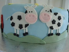Farm cake - close up of cows photo by Himmelske-kager