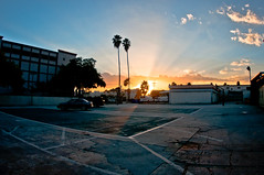 parking lot sunset photo by 50one50 photography