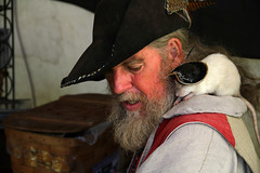 Pirate with Pet Pirate Rat photo by J K Johnson