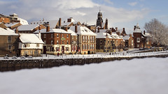 Riverside snow in York photo by itspaulkelly