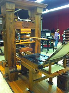 Replica Gutenberg press