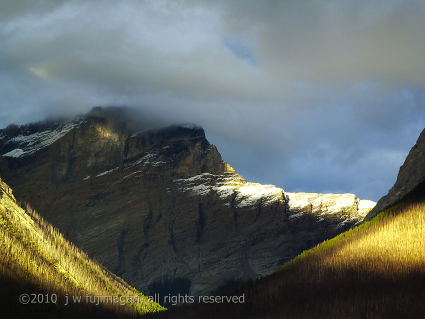 Sun on a Snow Covered Ridge