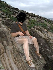 North Coast shiny pantyhose man photo by coowaman