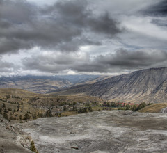 Mammoth Hot Springs, Yellowstone photo by Jill Clardy