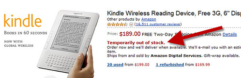 Kindle Out of Stock