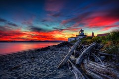 West Point Lighthouse Sunset HDR photo by Fresnatic