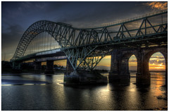 Runcorn Bridge HDR photo by Fields of View