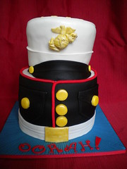 Marine Corps Boot Camp Graduation Cake photo by www.FlourGirlDesigns.com