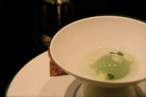 Benu - San Francisco, basil amuse