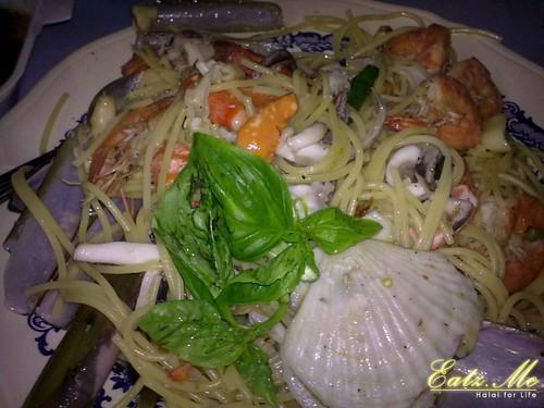 Spaghetti Carbonara Seafood