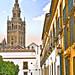 Patio Banderas versión acuarela. Sevilla