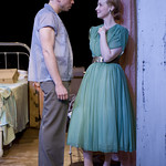 Matt Hawkins (Stanley) and Natasha Lowe (Blanche) in A STREETCAR NAMED DESIRE at Writers Theatre. Photos by Michael Brosilow.