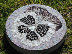 Pansy stepping stone photo by Diane Kitchener