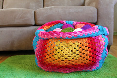 Thee Granny Square Yarn Sack photo by Easymakesmehappy
