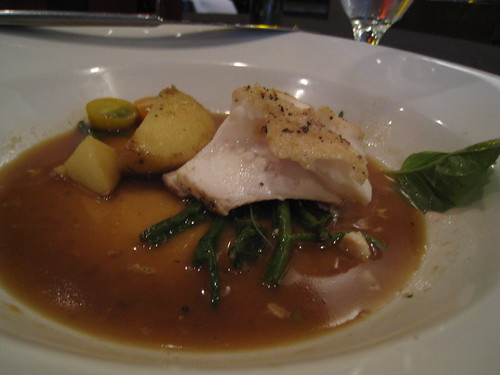 Pan Seared Halibut with Sea Asparagus