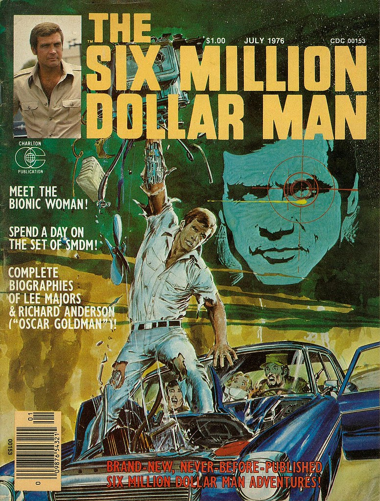 Six Million Dollar Man cover by Neal Adams 1976