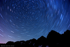 Perseid: Star Trails, Lake Ann by mj.foto