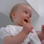 Amy brushing her teeth<br/>18 Jul 2010