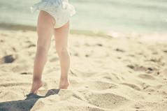 Little beach ballerina photo by Valspring