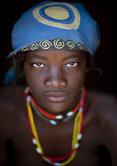 Miss Ines from Mundimba tribe, Angola photo by Eric Lafforgue