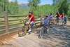 Kids Ranch campers take a ride on the bike path.