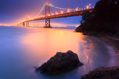 The Bay Bridge...illuminated photo by Jared Ropelato