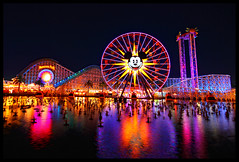 Paradise Pier at Night [Explore] photo by Corsey21
