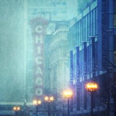Chicago Theater 2011 Snowstorm photo by mckenziemedia