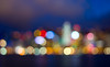 Hong Kong Island Skyline in Bokeh